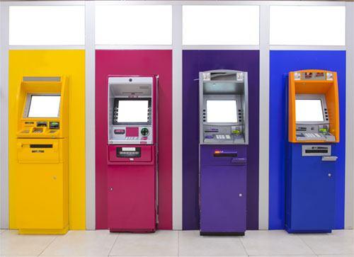 coloful ATMs