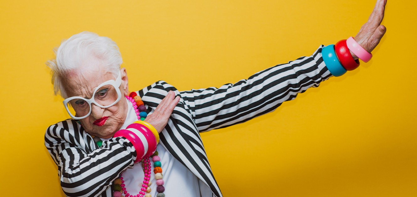 Elderly woman dancing and celebrating business planning and accounting by bizhippo in houston texas.