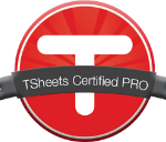 Tsheets payroll website partners program badge by bizhippo in houston texas