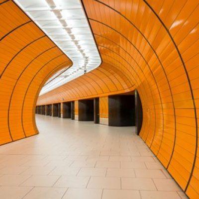 Marienplatz underground station in Munich, Germany
